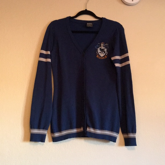 Hot Topic Sweaters Harry Potter Hogwarts House Ravenclaw Cardigan